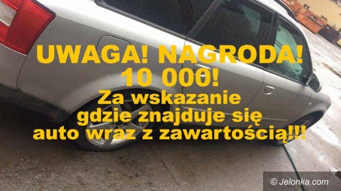 Jelenia Góra: 10 tys. złotych za pomoc w odnalezieniu auta