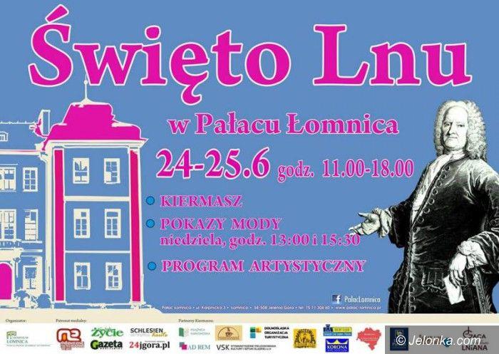 """Łomnica: Zbliża się """"Święto Lnu"""" w Pałacu Łomnica"""