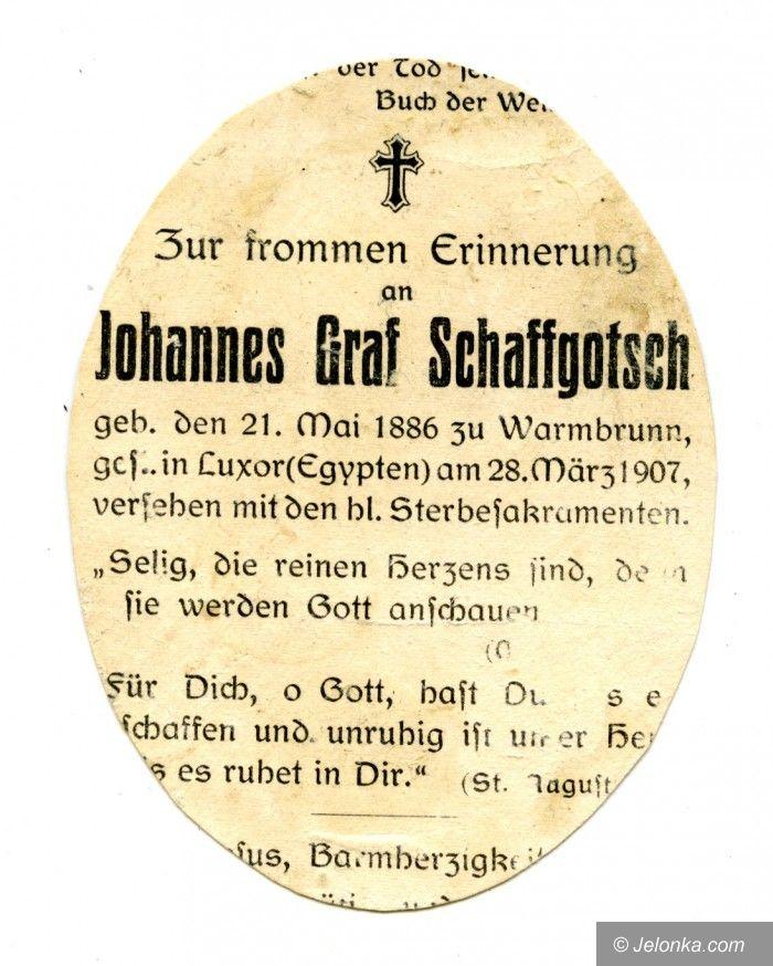 Region: Tragiczna wycieczka Schaffgotscha do Egiptu