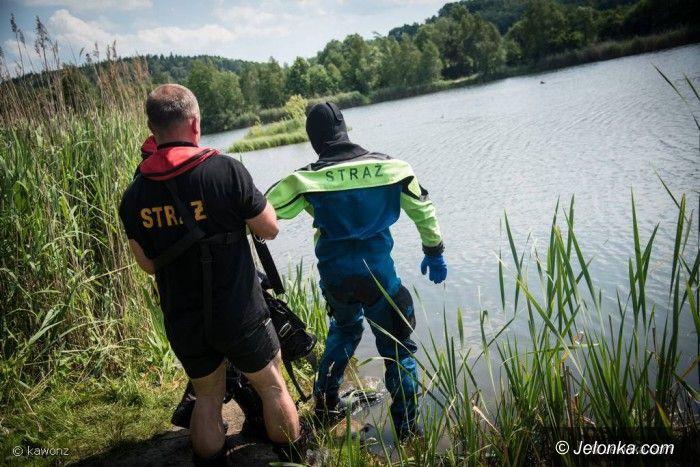 Jelenia Góra: Akcja poszukiwawcza w zalewie przy Orkana (aktualizacja)