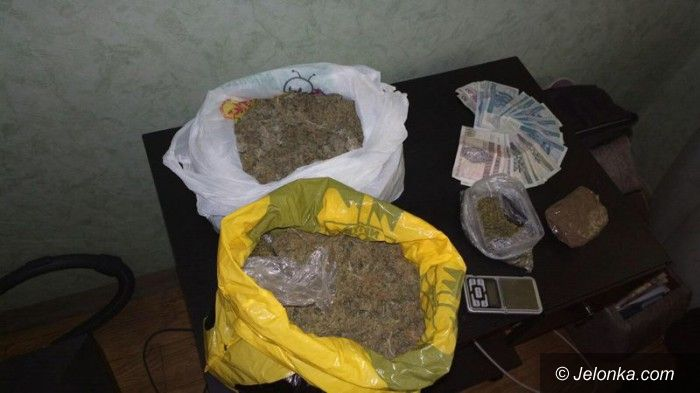 Jelenia Góra: Ponad 1 kg marihuany nie trafi do sprzedaży