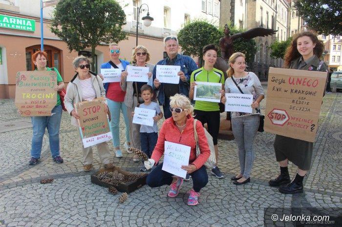 Jelenia Góra: Kopali szyszkę na znak protestu