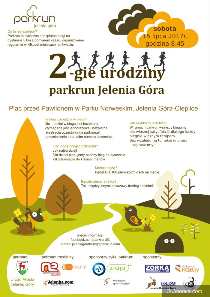 Jelenia Góra: II urodziny Parkrun Jelenia Góra – jutro