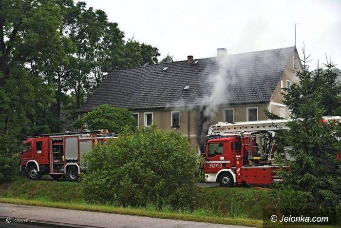 Jelenia Góra: Pożar budynku przy Wrocławskiej
