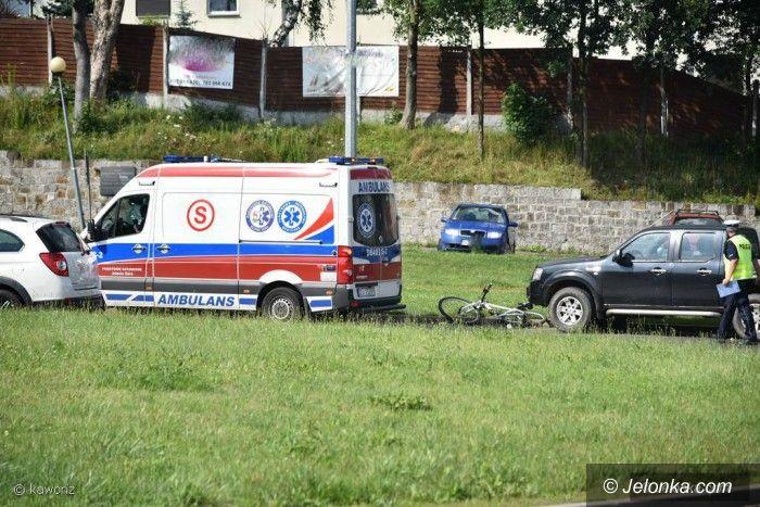 Jelenia Góra: Wypadek na rondzie Majewskiego