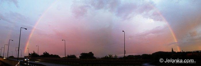 Jelenia Góra: Po burzy i ulewie – piękne zjawisko