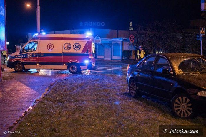 Jelenia Góra: Samochód potrącił pijanego pieszego