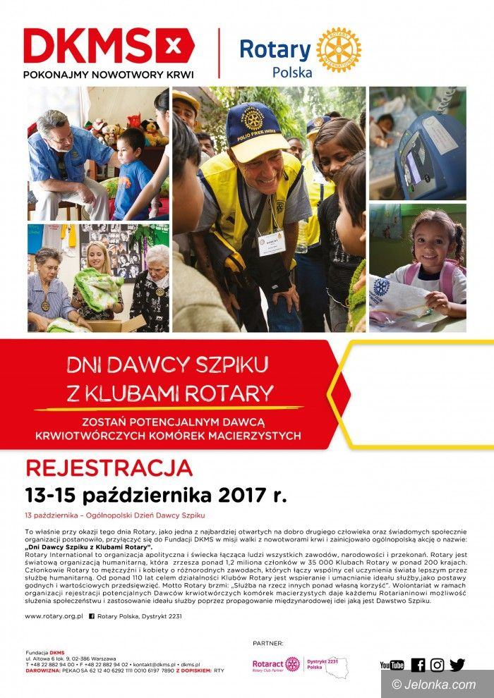Jelenia Góra/Kraj: Dni Dawcy Szpiku z klubami Rotary