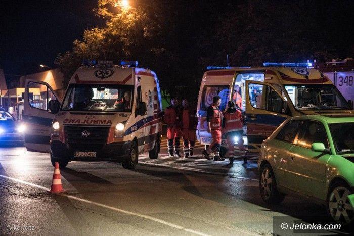 Jelenia Góra: Zderzenie dwóch aut, 4 osoby poszkodowane