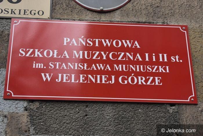 Jelenia Góra: Szyld z błędem na siedzibie szkoły muzycznej