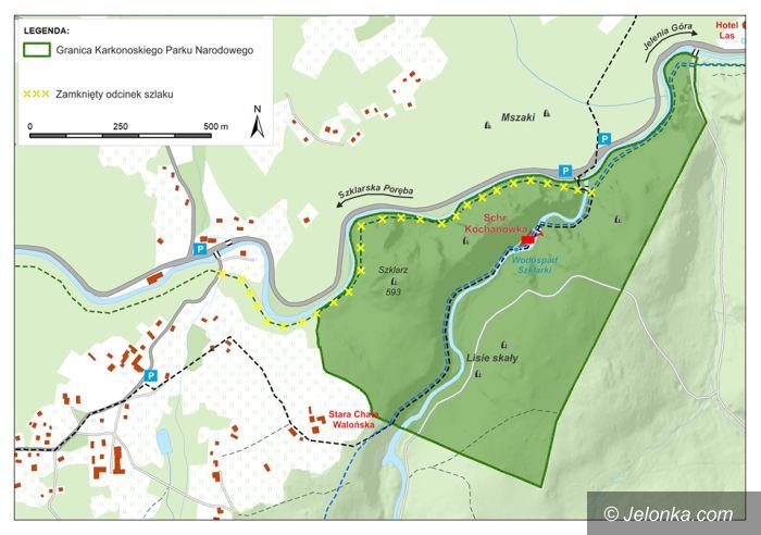 Region: Zamknięty zielony szlak wzdłuż Kamiennej