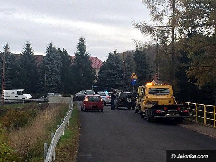Region: Zderzenie samochodów w Łomnicy