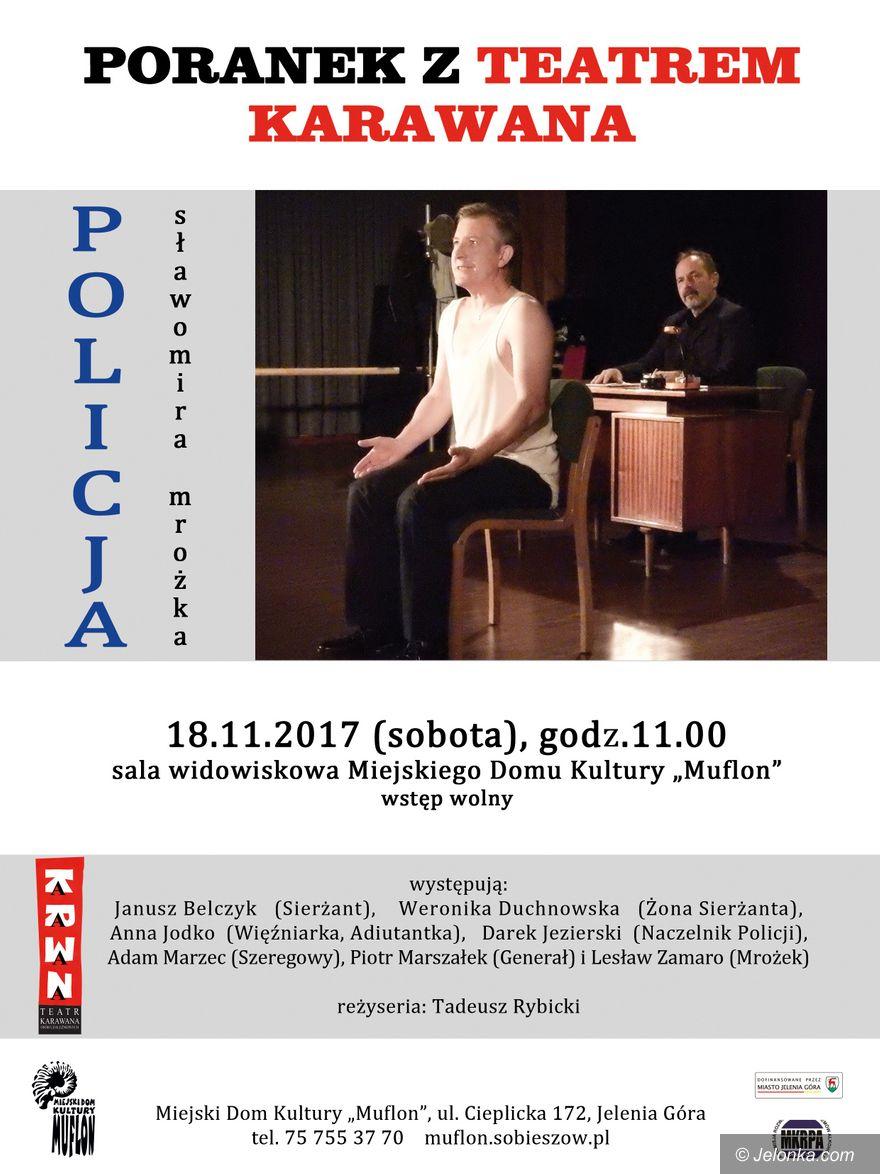 """Jelenia Góra: Poranek z Teatrem Karawana w sobotę w """"Muflonie"""""""