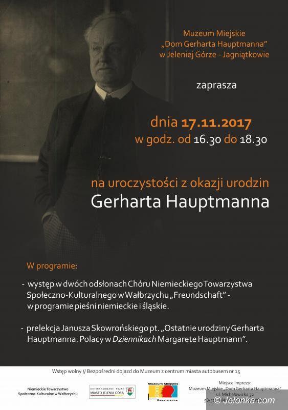 Jelenia Góra: Jutro uroczystości z okazji urodzin G. Hauptmanna