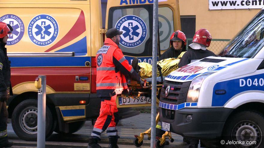 Jelenia Góra: Groźne zderzenie dwóch aut w Cieplicach (aktualizacja)