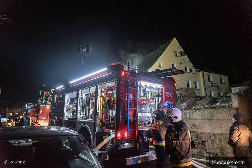 Jeżów Sudecki: Pożar domu w Jeżowie Sudeckim