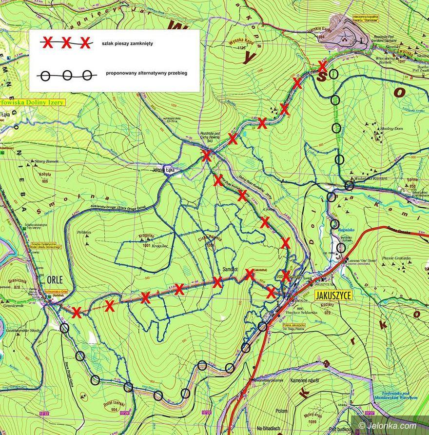 Region: Zakazy dla pieszych na szlakach w Jakuszycach