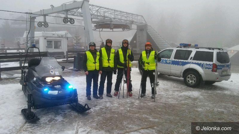 Szklarska Poręba: Policyjne patrole narciarskie na stokach