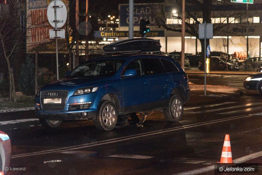 Jelenia Góra: Kierowca audi potrącił rowerzystę (aktualizacja)