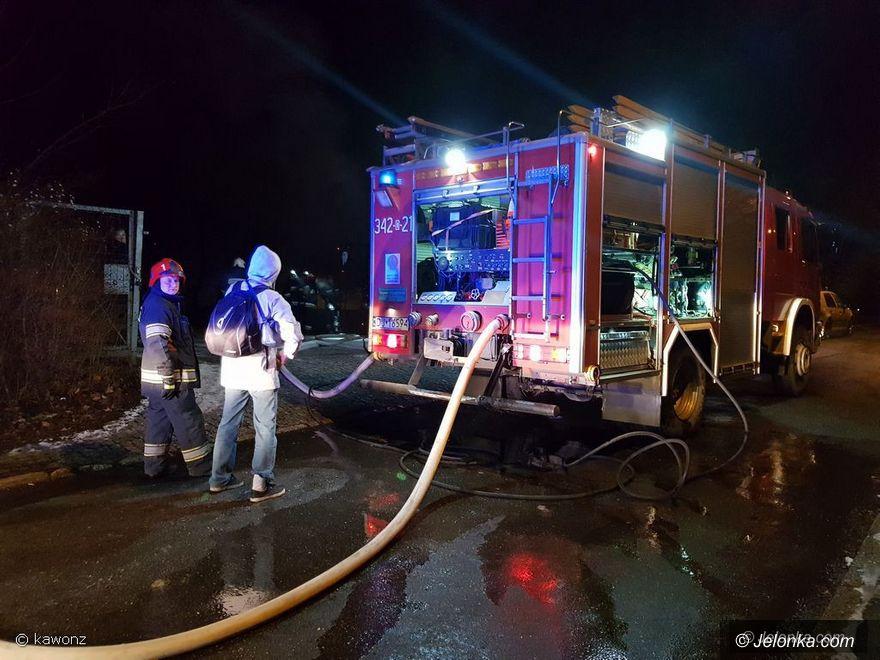 Jelenia Góra: Pożar autobusu na Kraszewskiego
