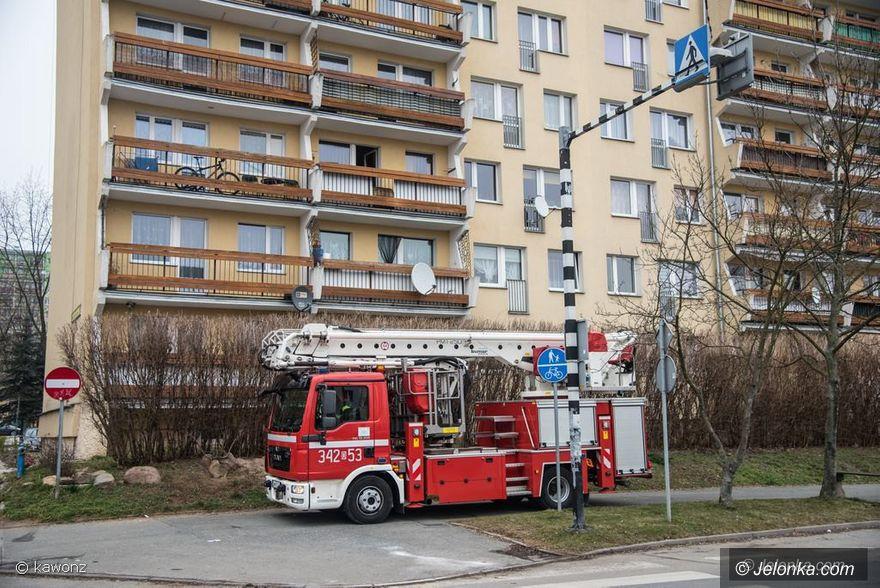 Jelenia Góra: Akcja strażacka na Zabobrzu