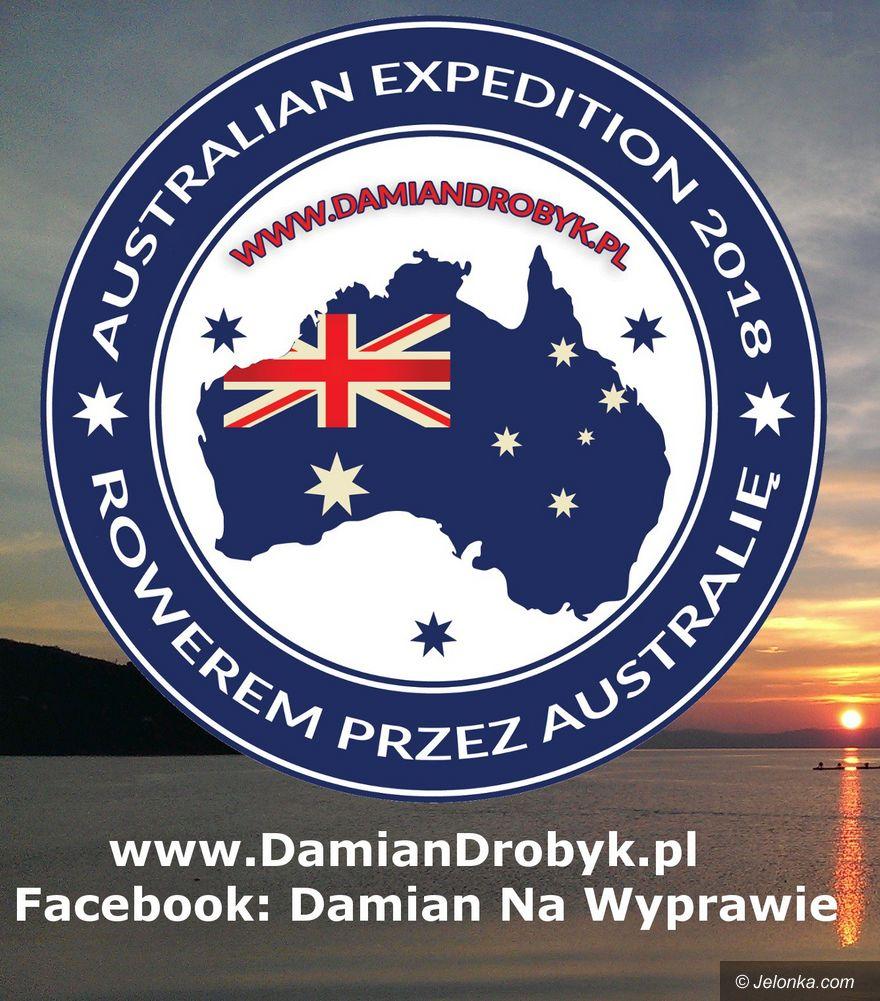 Jelenia Góra: Damian Drobyk rusza rowerem po Australii