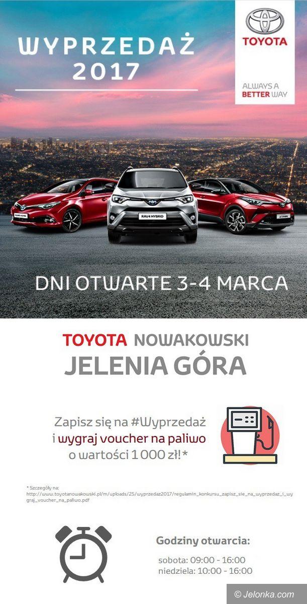 Jelenia Góra: Dni otwarte w Salonie Toyota Nowakowski  w  Maciejowej. Finał wyprzedaży 2017!