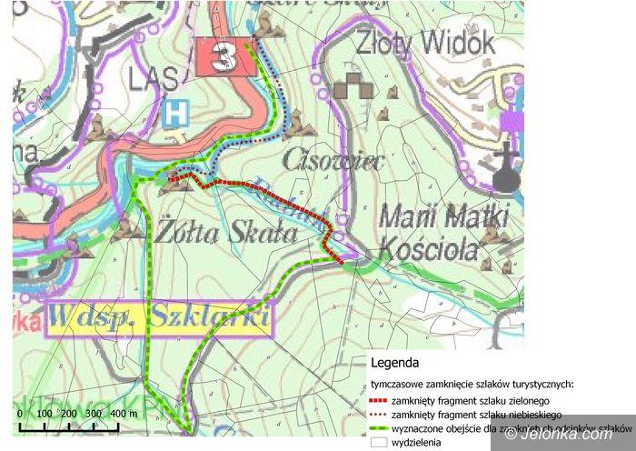 Szklarska Poręba: Zamknięte szlaki na czas robót leśnych