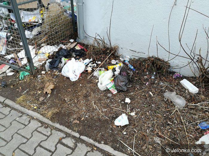 Jelenia Góra: Czytelniczka: Bałagan w boksie na odpady