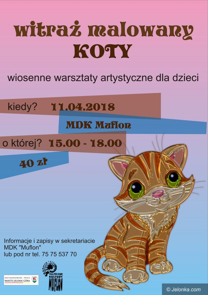 """Jelenia Góra: Witraż malowany, czyli wiosenne warsztaty w """"Muflonie"""""""