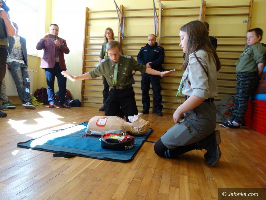 Region: O pierwszej pomocy w szkole w Łomnicy