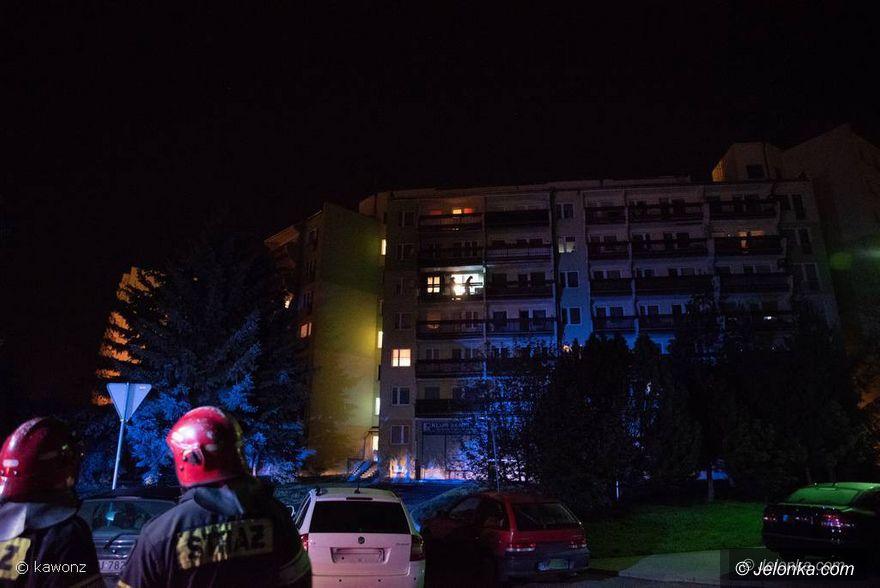 Jelenia Góra: Pożar w bloku na Zabobrzu