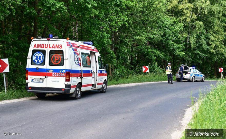 Region: Motocyklista szarżował i wypadł na łuku z drogi