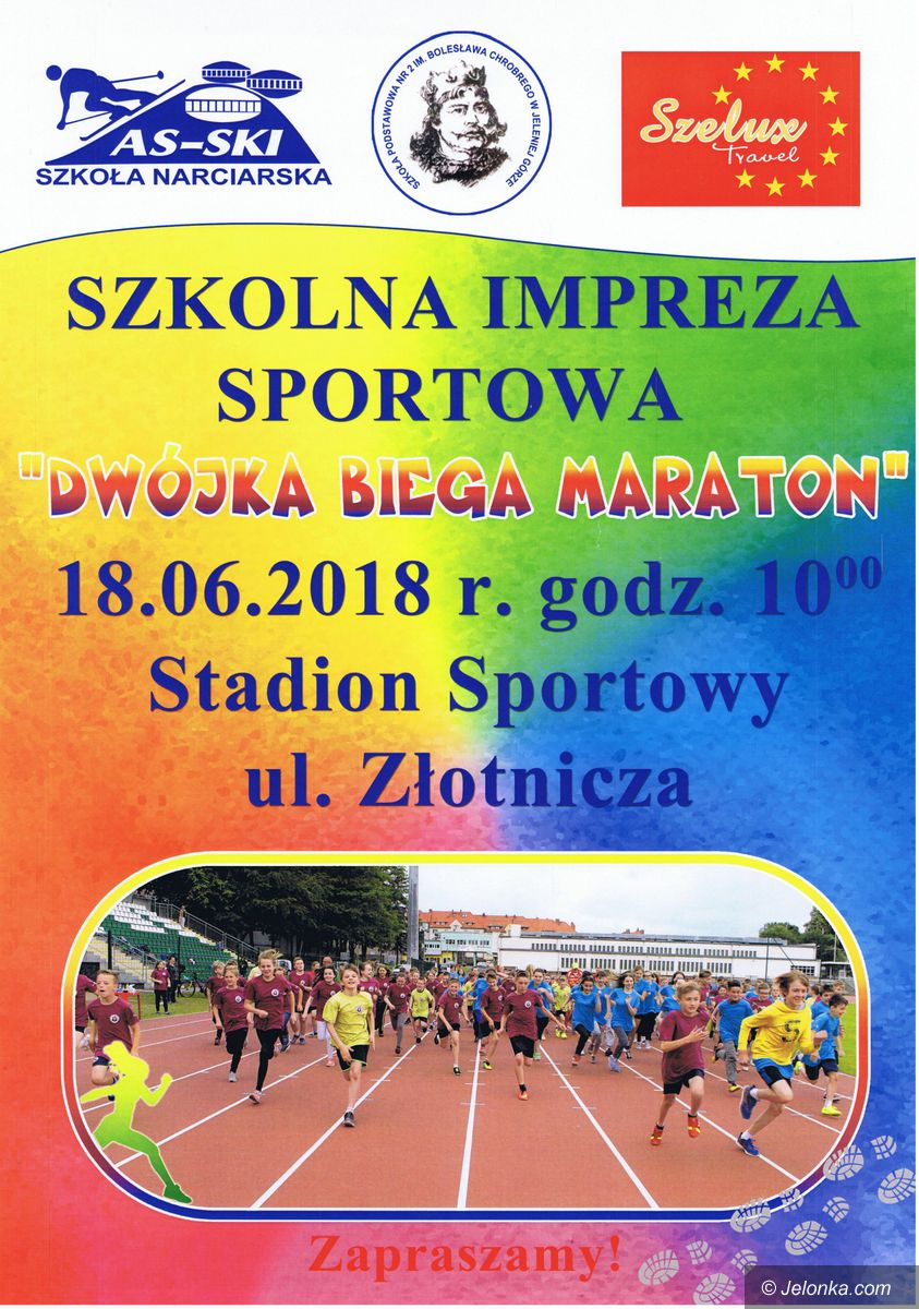 "Jelenia Góra: ""Dwójka"" biega maraton"