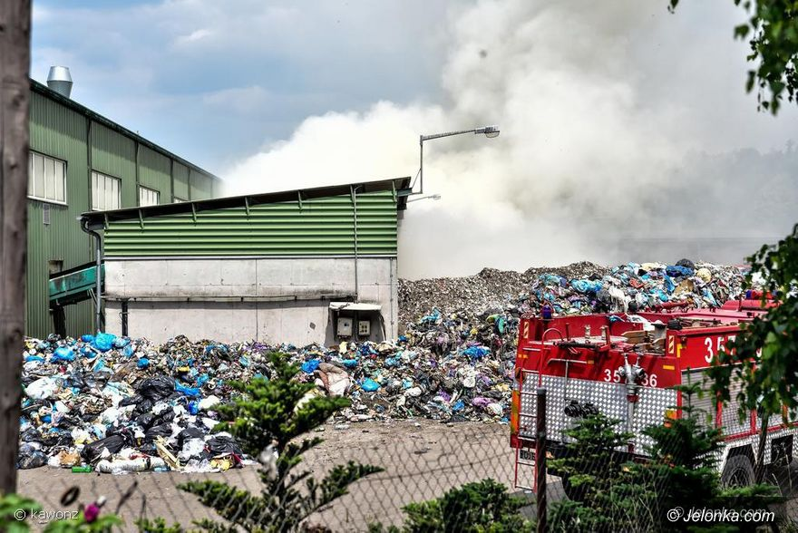 Jelenia Góra: Śledztwo w sprawie pożaru na wysypisku