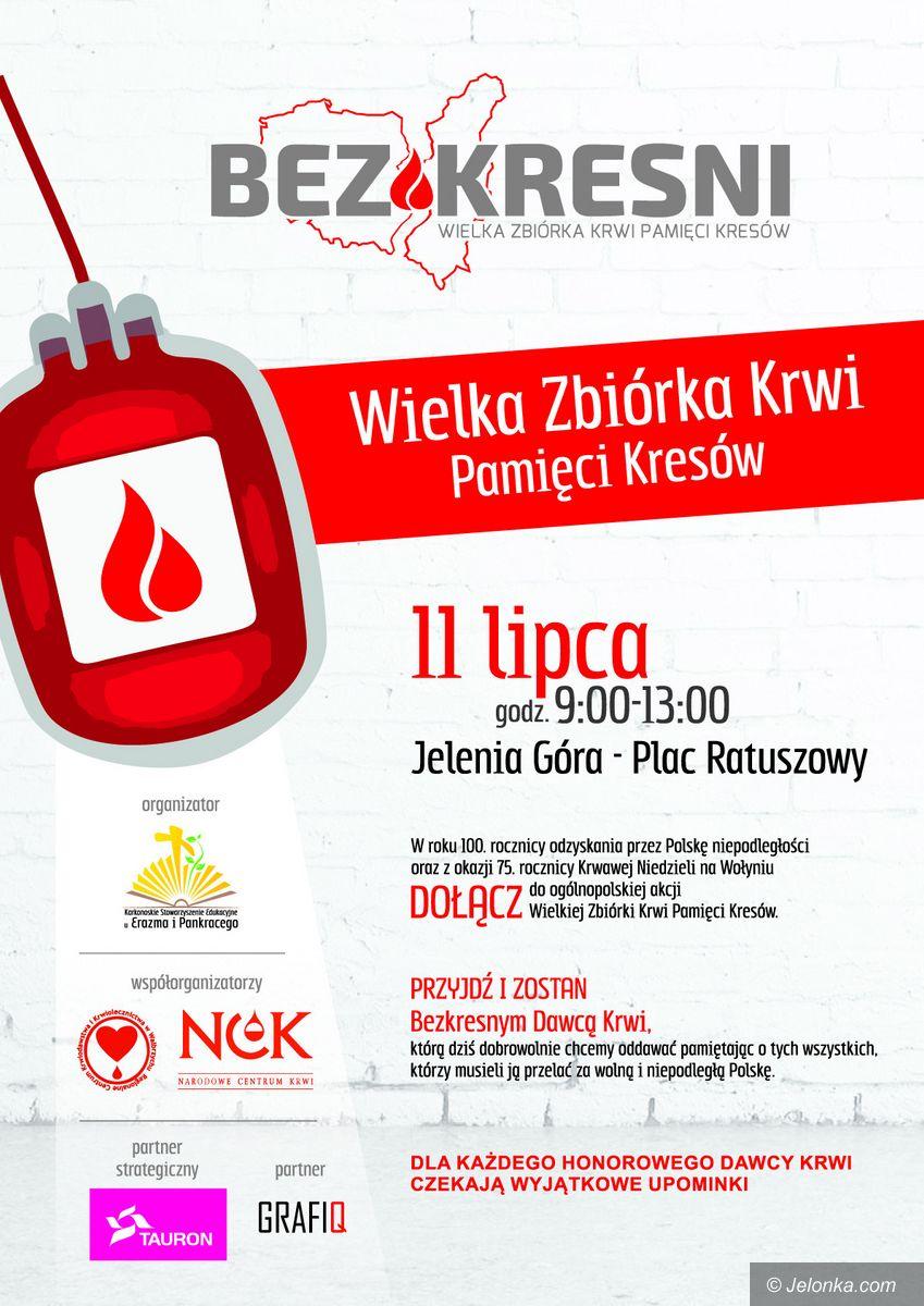 Jelenia Góra: Zbiórka krwi Pamięci Kresów