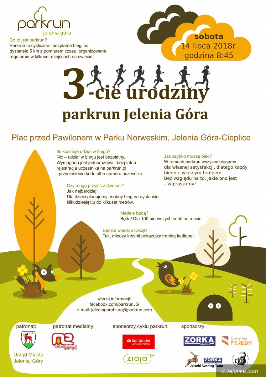 Jelenia Góra: W sobotę urodziny parkrun – dołącz