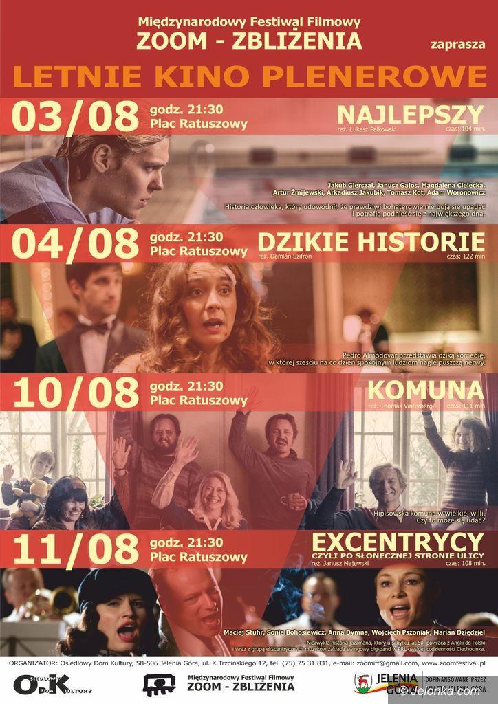 Jelenia Góra: Letnie kino w sierpniu na Placu Ratuszowym
