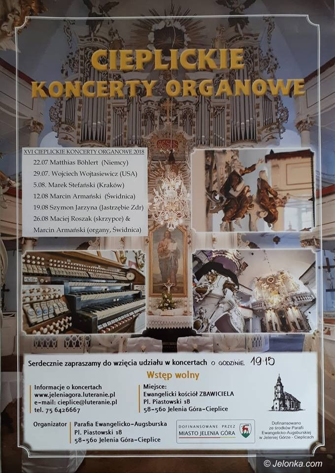 Jelenia Góra: Cieplickie Koncerty Organowe – od dzisiaj