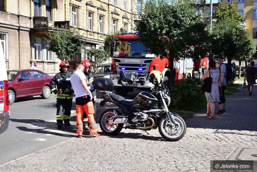 Jelenia Góra: Motocykl był za blisko?