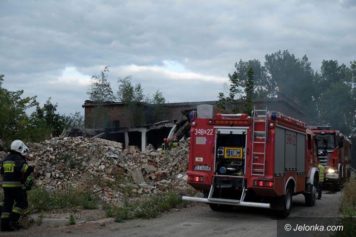 Jelenia Góra: Znów pożar na terenie dawnego Jelchemu
