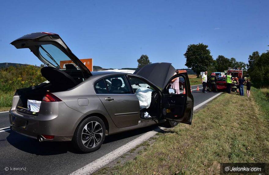 Jelenia Góra: Zderzenie dwóch aut