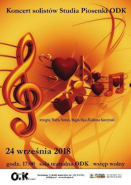 Jelenia Góra: Koncert solistów Studia Piosenki ODK