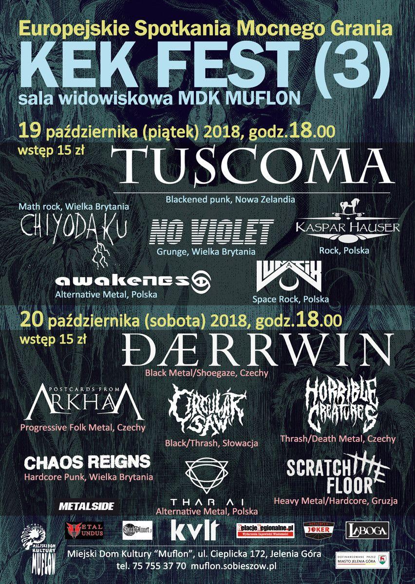 "Jelenia Góra: KEK FEST(3) – w MDK ""Muflon"""