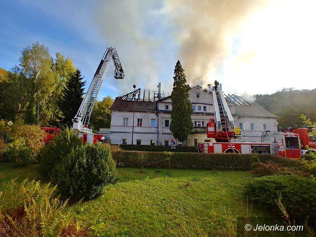 Piechowice: Pożar budynku w Piechowicach