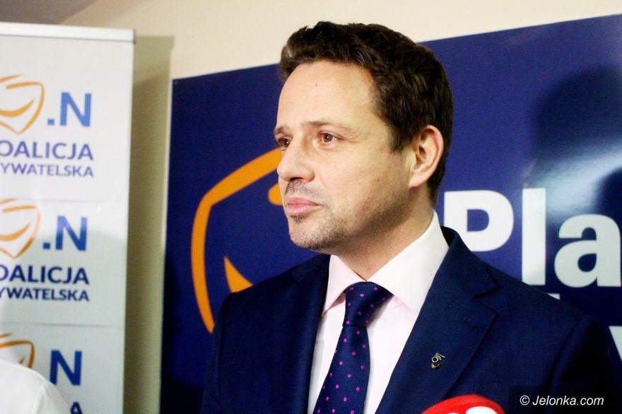 Jelenia Góra: Trzaskowski wspiera Łużniaka