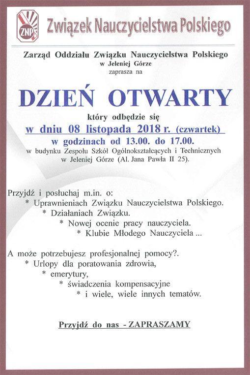 Jelenia Góra: Wkrótce dzień otwarty ZNP