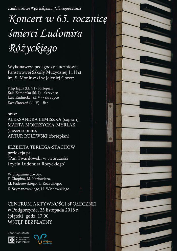 Podgórzyn: Koncert pamięci Ludomira Różyckiego