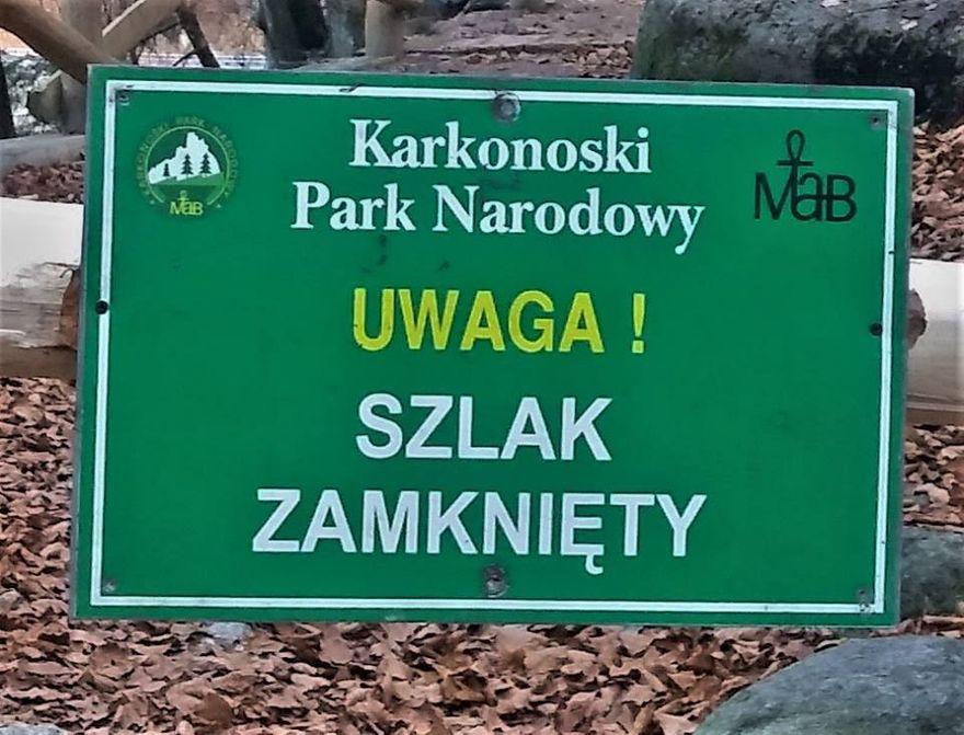 Szklarska Poręba: Zamknięty szlak przy Wodospadzie Szklarki