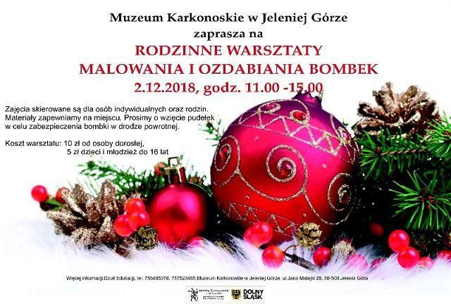 Jelenia Góra: Już w niedzielę... malowanie bombek!